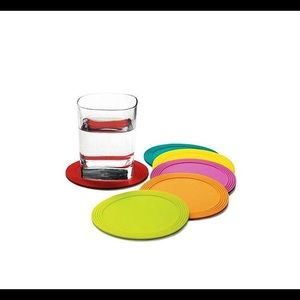 NWT MoMA Stacking Silicone Coasters.